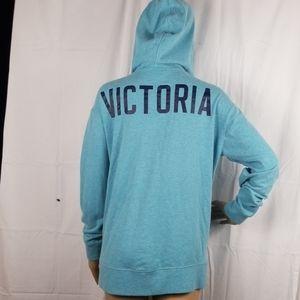 Victoria Secret blue full zip Angel sweatshirt